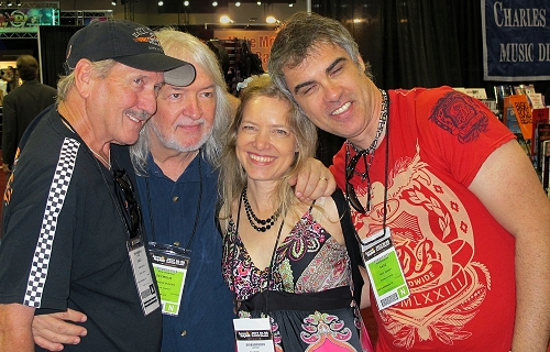 With Muriel Anderson, Seymour Duncan and Sage Benado